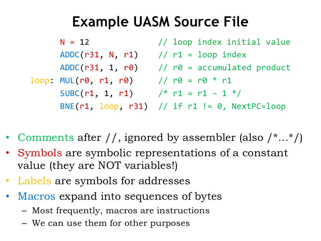 L10a: Assembly Language